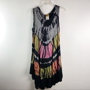 Ingear sleeveless tie dye dress cover up